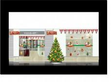 圣诞超市美陈