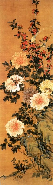 国画 牡丹 高清素材