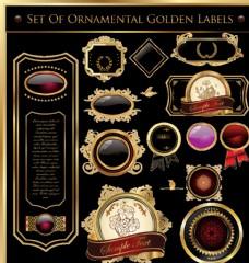 西式古典风格标签素材图片