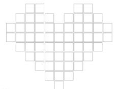 心型拼图模版图片