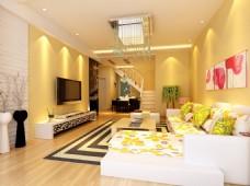 温馨客厅模型