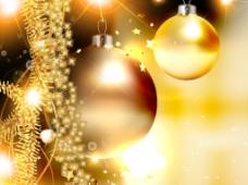 金色圣诞装饰矢量图素材
