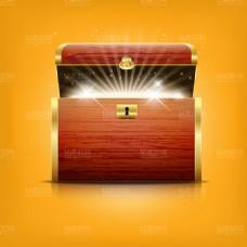 财富宝箱设计矢量素材
