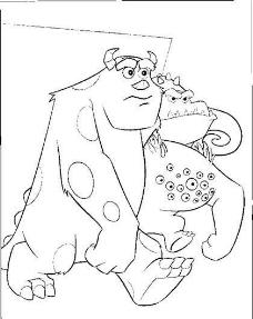 迪斯尼绘画人物 卡通人物 怪兽 矢量素材 ai格式_02