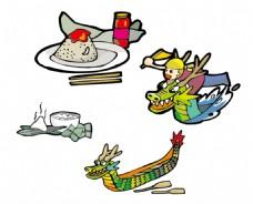 龙舟 粽子图片