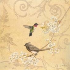 复古花鸟装饰画