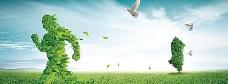健康清新绿色背景