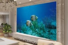 海底世界背景墙效果图