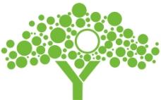 绿色简单的形象墙