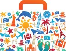矢量旅行包创意设计图片