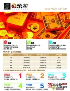 金融理财公司展业DM单设计图片