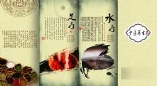 中医养生宣传四折页设计