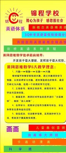 锦城教育 展架图片
