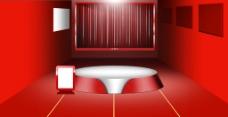 红色淘宝京东底托背景产品展示360度