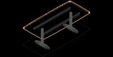 圆形家具CAD模型素材