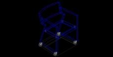 黑色高档家具CAD模型素材