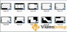 10款动态遮罩电视包装视频素材
