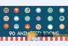 90组扁平化网络标识模板包