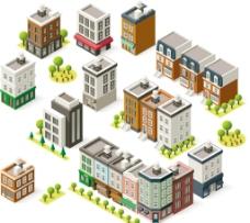 時尚卡通 建筑設計圖片