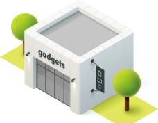 卡通建筑 模型設計圖片