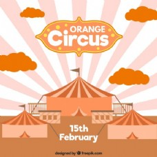 橙色的马戏团的插图