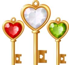 爱心钥匙元素
