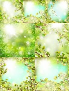 唯美春季主题元素矢量素材