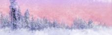 冬季雪景主题全屏背景素材 (13)