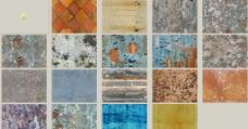 各色混合墙体旧外墙图片