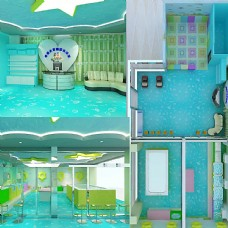 游泳馆装修效果图图片