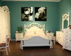 卧室花朵装饰画