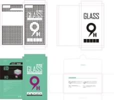 钢化玻璃膜保护膜纸盒图片