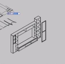 CAD陈龙 电视墙 3DCAD图片
