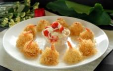 金丝沙拉虾图片