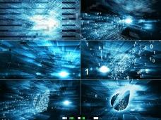 科幻风数码汇聚logo揭示片头AE模板