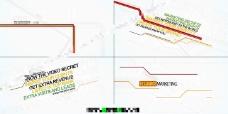 简单干净的线框字幕动画AE源文件