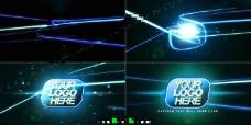 蓝色光线logo揭示片头AE工程