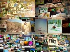 可放置100张相片的时尚图片墙AE模板