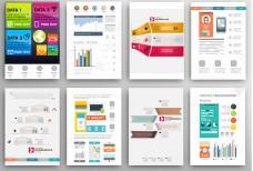 时尚商务信息图表单页矢量素材