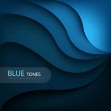 蓝色 大波浪