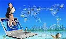 电脑广告 电脑网络 分层PSD