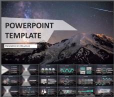 项目策划-大气星空-科幻深色-PPT模板