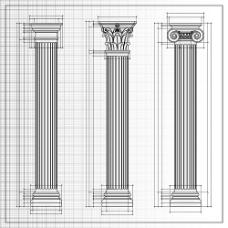 漂亮的罗马柱设计图
