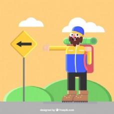 旅游人的插图