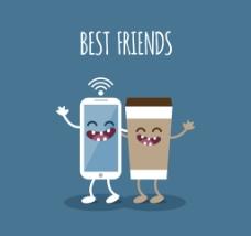 最好的朋友矢量创意设计