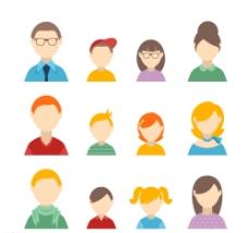 家庭人物头像设计图片