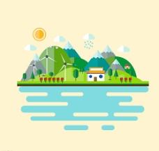 自然风景插画图片