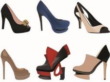 时尚的女性的鞋子