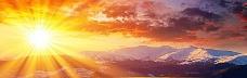 雪山太阳banner创意设计