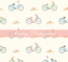 矢量自行车背景素材